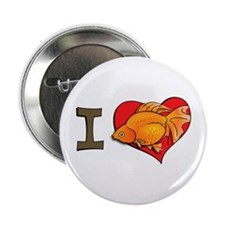 I heart goldfish Button
