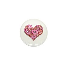 Heart of Donuts Mini Button (100 pack)
