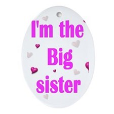 Big Sister II Oval Ornament