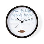 Blind Wipe Wall Clock