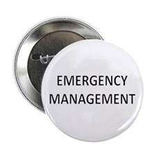 "Emergency Management - Black 2.25"" Button (10 pack"