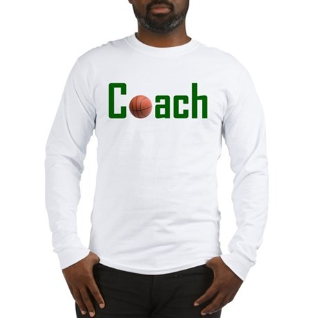 Basketball Coach Green Long Sleeve T-Shirt