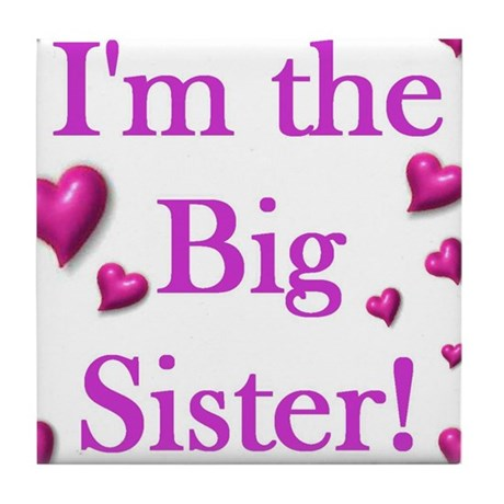 Original - Big sister logo Tile Coaster