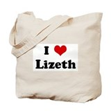 I Love Lizeth Tote Bag