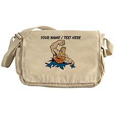 Custom Cartoon Wrestler Messenger Bag