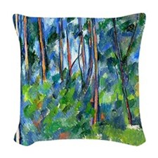 Cezanne: In the Woods Woven Throw Pillow