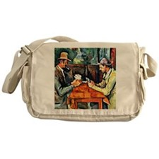 Cezanne: The Card Players (two) Messenger Bag