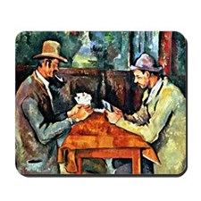 Cezanne: The Card Players (two) Mousepad