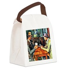 Cezanne: The Card Players (two) Canvas Lunch Bag