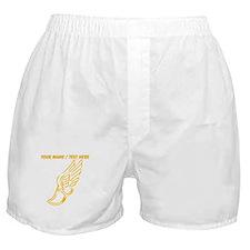 Custom Gold Running Shoe Boxer Shorts