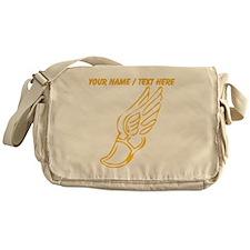 Custom Gold Running Shoe Messenger Bag