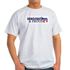 Democrat & Proud Ash Grey T-Shirt
