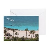 Paradise Island Beach Palms - Greeting Cards (Pac