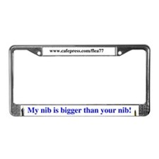 Fountain Pen License Plate Frame