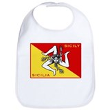 Flag of Sicily Bib