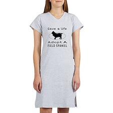 Adopt A Field Spaniel Dog Women's Nightshirt