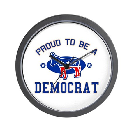 Collegiate Proud Democrat Wall Clock
