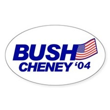 ! '04 Bush-Cheney '04 Oval Decal
