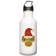 Santa Monkey Head Water Bottle
