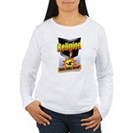 Religion Kills Folks D Women's Long Sleeve T-Shirt