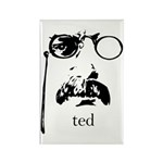 Teddy Roosevelt Rectangle Magnet (100 pack)