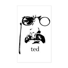 Teddy Roosevelt Rectangle Sticker