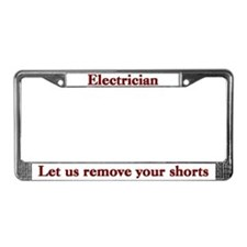 Electrician License Plate Frame