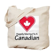 Happily Married Canadian Tote Bag