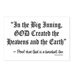 In the Big Inning Postcards (Package of 8)