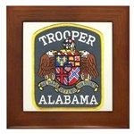 Alabama Trooper Framed Tile