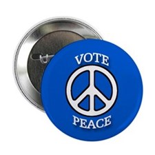 Blue Vote Peace Button Discount Ten Pack