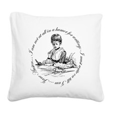 Writing Pen Ink Square Canvas Pillow