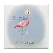 Bride Flamingo Tile Coaster