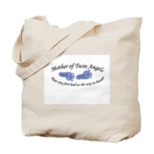 Mother of Twin Angel Boys Tote Bag