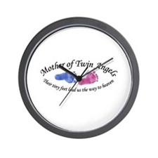 Mother of Twin Angels BG Wall Clock