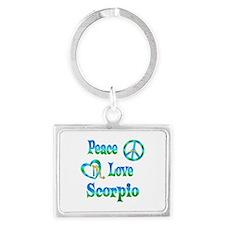 Peace Love Scorpio Landscape Keychain