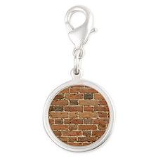 Brick Silver Round Charm