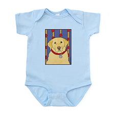 """The Yellow Lab"" Labrador Infant Creeper"