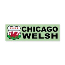 Chicago Welsh American Sign Car Magnet 10 x 3