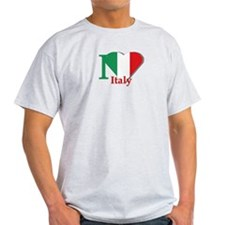 I love Italy Ash Grey T-Shirt