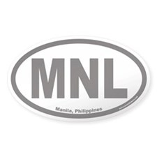Manila MNL Euro Oval Decal
