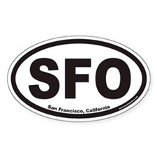 San Francisco SFO Euro Oval Decal