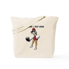 Custom Woman Golfer Tote Bag