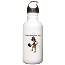 Custom Woman Golfer Sports Water Bottle
