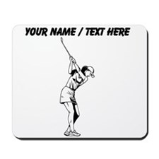 Custom Female Golfer Mousepad