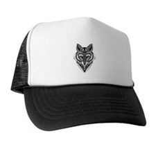 Ornate Foxy Wolf Trucker Hat
