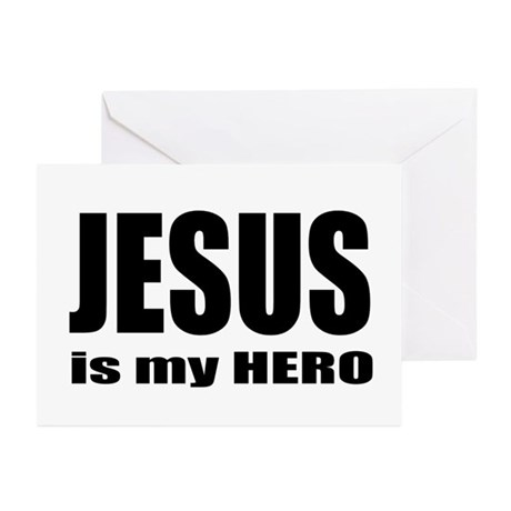 Jesus is Hero Greeting Cards (Pk of 10)