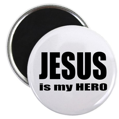 "Jesus is Hero 2.25"" Magnet (100 pack)"