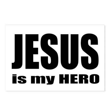 Jesus is Hero Postcards (Package of 8)