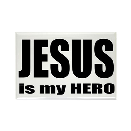 Jesus is Hero Rectangle Magnet